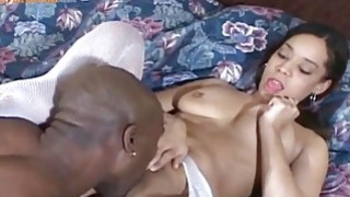 Image: Horny Little Nurs enjoying a Huge eBONY cOCK