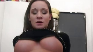Big and firm boobs exposed in public image