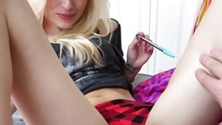 Petite amateur teen fucks huge cock pov image