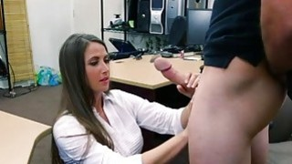 Big ass hottie pawns her twat and railed image