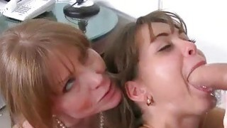 Stepmom Darla Crane threesome sex in bed image