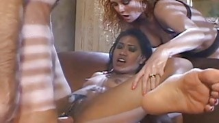 Image: Very sloppy and nasty double penetration fuck for