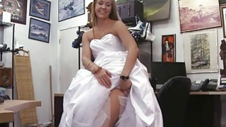 A sexy blonde came strolling_in the shop image