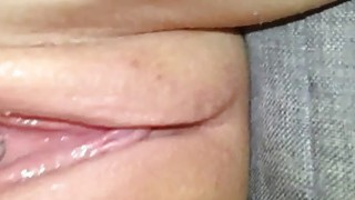 Using Dildo on Creamy Teen Pussy image