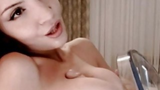Image: Homemade Titfucking with sex toy on webcam