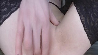 Busty blonde seeks cream in her pussy image