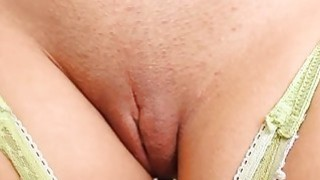 Exposed beauty exposes her pussy to enjoy fucking image
