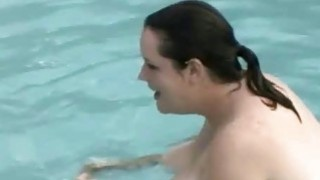 Bbw Plays Fat Naked In Swimmig Pool image