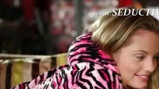 seductive blonde making luxury finger image