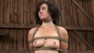 Image: Gagged cutie gets furious whipping on her tits