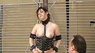 Image: Kinky amateur bondage and whipping of Lena in elec