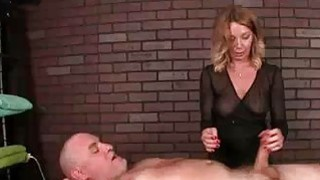 Image: Milf Masseuse Teases Clients Cock With Vibrator