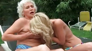 Grannies and Young Girls Hot Lesbian Compilation image