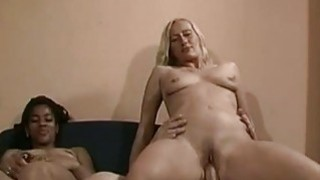 Amateur FFM threesome with cumshot in mouth image