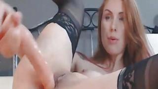 Stunning Redhead Teen Close Up Dildo Pussy Masturb image