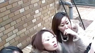 jav porn sub • Japanese women tease man in public via handjob sub image