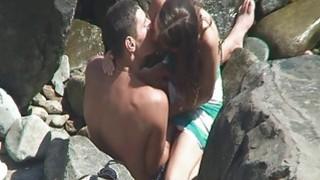 Image: Voyeur on nude beach films publiic sex