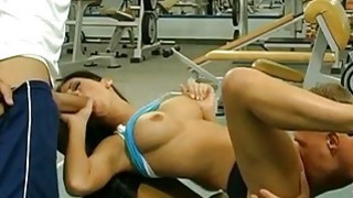 Anal groupsex in gym image