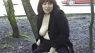 Image: Chubby amateur nude Nimues public flashing and out