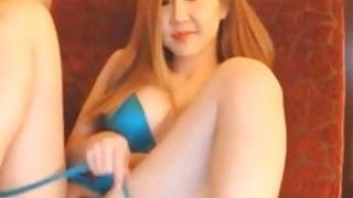 Nasty asian with wonderful body deep toying pussy On Webcam image