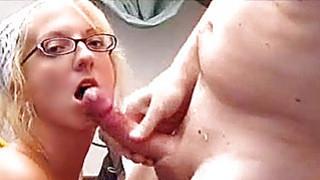 Blonde amateur exGF sucks and fucks with cum image