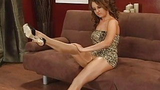 Image: Sexy doll poses in pantyhose