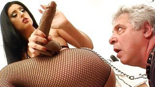 black mom ass licking - Brunette mistress gets ass licked image