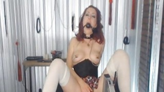 Image: Mistress with Nipple Clamps and Ball Gags Abuses h