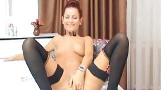 Beautiful Cam Babe Masturbate Her Pink Cunt On Cam image