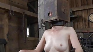 Bound up serf acquires pleasuring her_naughty twat image