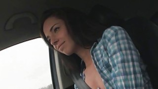 Stranded Gina Devine take off her bra and showed her nice sweet titties image