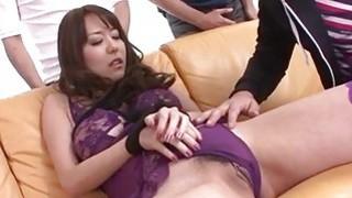 Stunning threesome along mature Akari Asagiri image