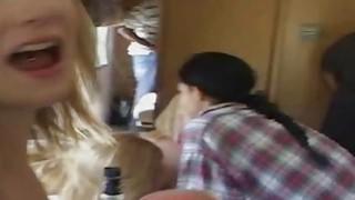 crazy girls in wild_bangbus gangbang image