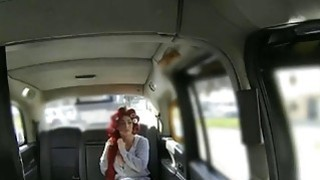 Passenger licked and banged in her pussy by fraud driver image
