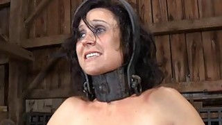 Image: Gagged gal with clamped nipples receives wild joy