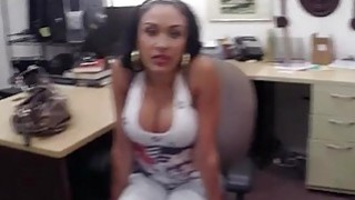 Latin babe pawns her phones and banged_by nasty pawn dude image
