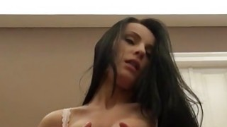 Nasty amateur girlfriend tries out anal sex_on camera image
