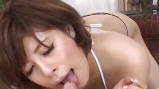 Image: Ririsu Ayaka blows tasty cock in POV style