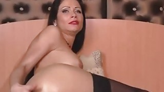 Perfect camgirl play by dildo on webcam image