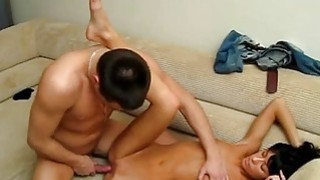 Cunt hole of a babe gets fucked in different poses image