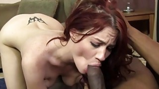 Jessica Ryan takes two big black cocks image