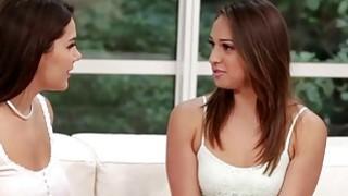 Teen Sara Luvv and hot valentina Nappi get slutty for lesbian sex image