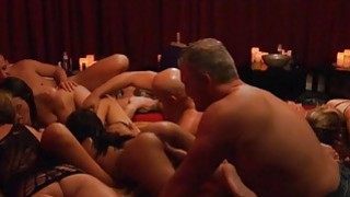 Group of nasty swingers enjoyed horny orgy in the red room image