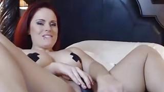 OMBFUN.com BIG SQUIRT @ 6-15 Titty Brunette Huge Cum Orgasm OhMiBod Vibrator image