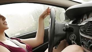Image: Busty Jenny Masturbating In The Car