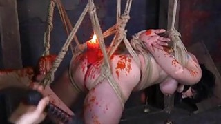 Image: Gagged cutie with clamped nipples acquires joy