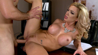blackmail principal - Principal parker swayze gets fucked on_her own desk image