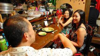 Late night busting nuts with horny Japanese chicks image