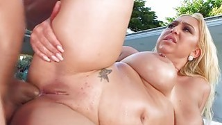 Big assed Nina Kay in an intense anal fuck delight image