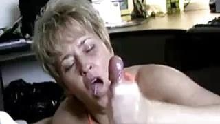 Image: Milf Helps Lucky Guys Cock Spurt With Jizz